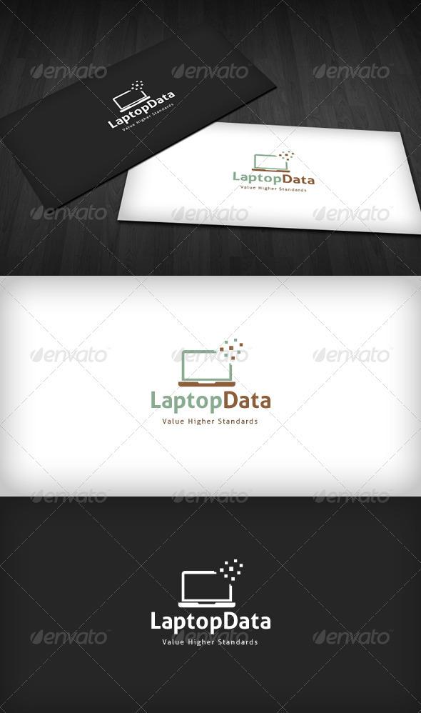 Laptop Data Logo - Symbols Logo Templates