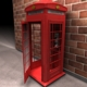 Red Classic Telephone Booth - 3DOcean Item for Sale
