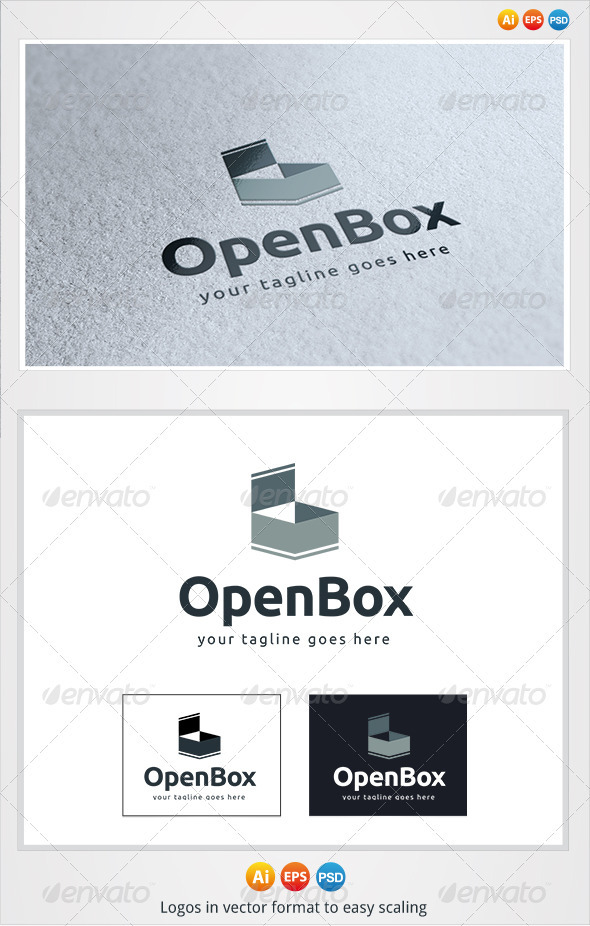 Open Box Logo - Objects Logo Templates