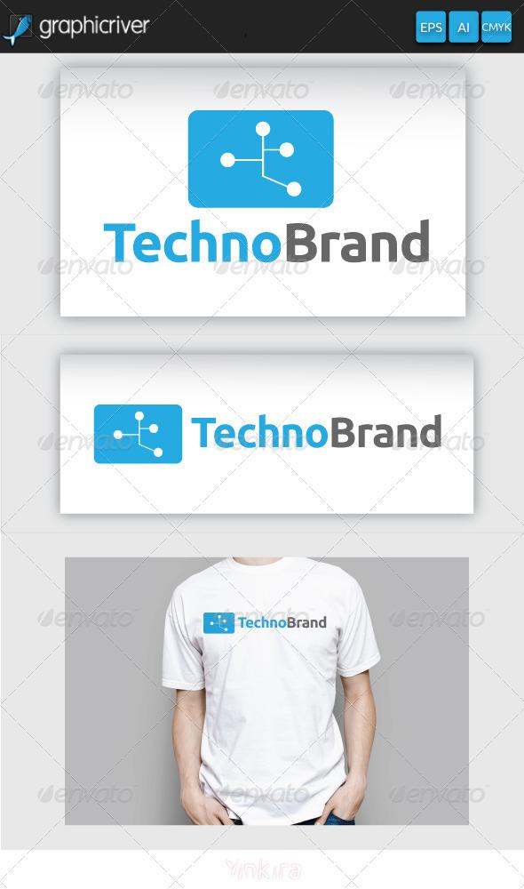 Techno Brand Logo - Symbols Logo Templates