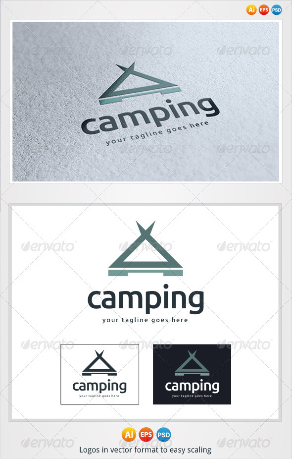 Camping Logo - Buildings Logo Templates