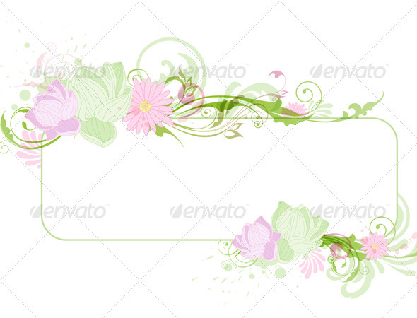 Banner with Lotus - Backgrounds Decorative