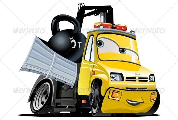 vector cartoon tow truck by mechanik graphicriver rh graphicriver net tow truck vector free download tow truck vector illustration