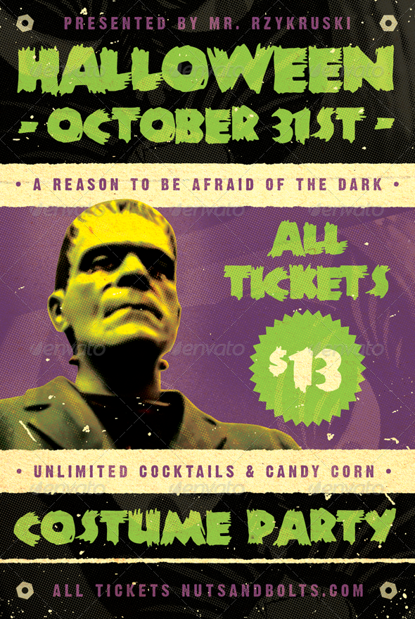 Frankenfest - Halloween Flyer Template - Holidays Events