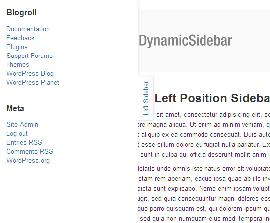 Total Dynamic Sidebar -