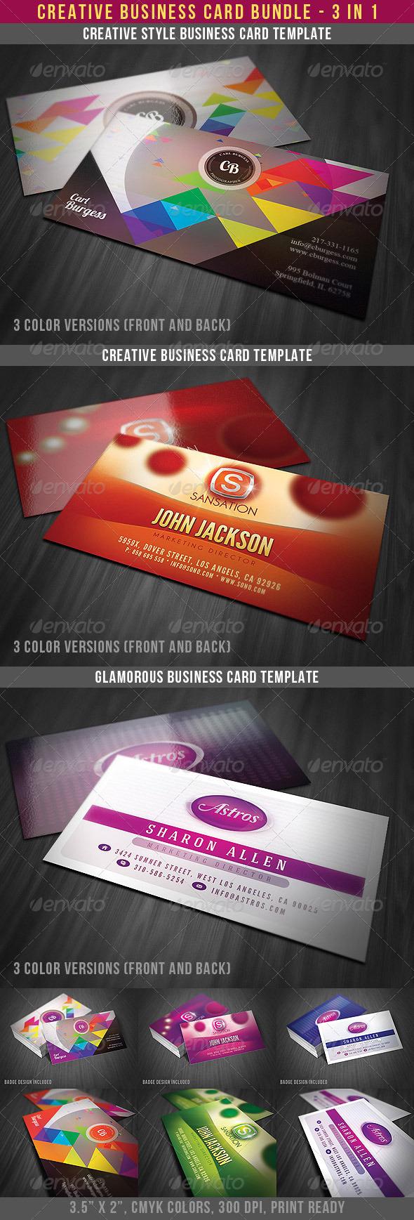 Creative Business Cards Bundle - Creative Business Cards