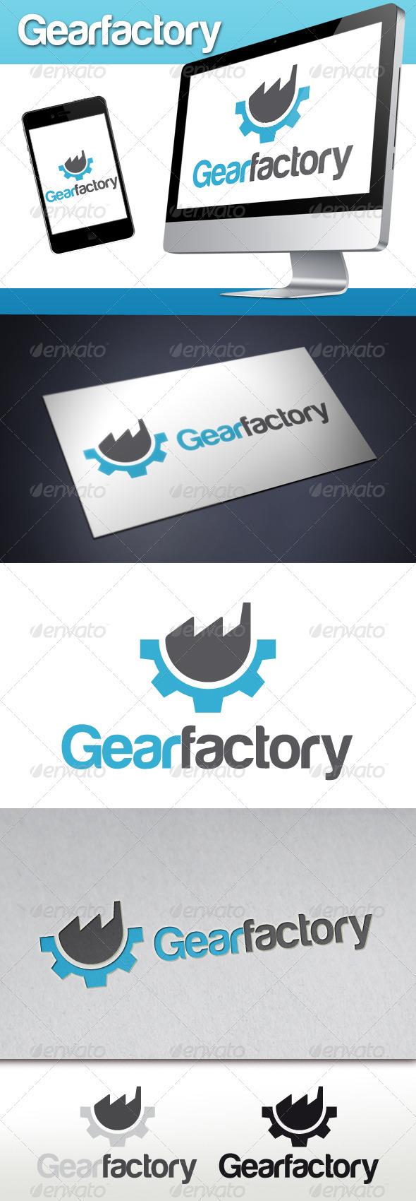 Gear Factory Logo - Symbols Logo Templates