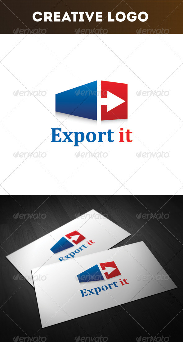 Export it Logo - Objects Logo Templates