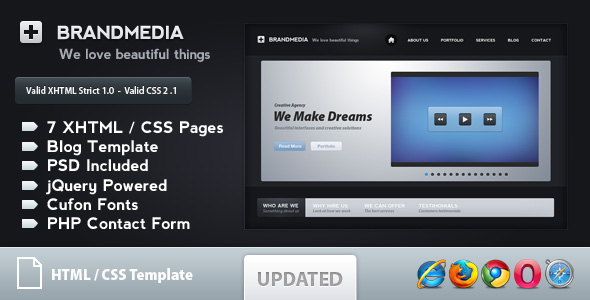 Free Download Brand Media - Modern Business Template Nulled Latest Version