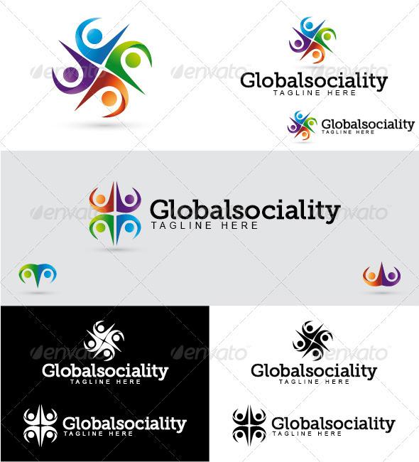 Globalsociality Logo - Humans Logo Templates