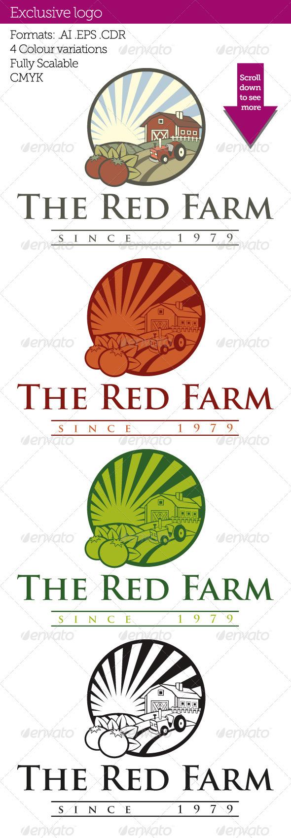 Red Farm - Food Logo Templates