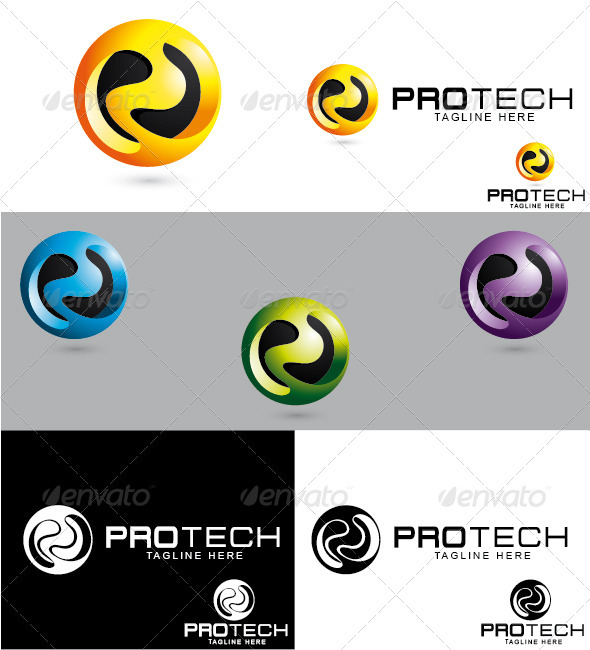 Protech Logo - Letters Logo Templates