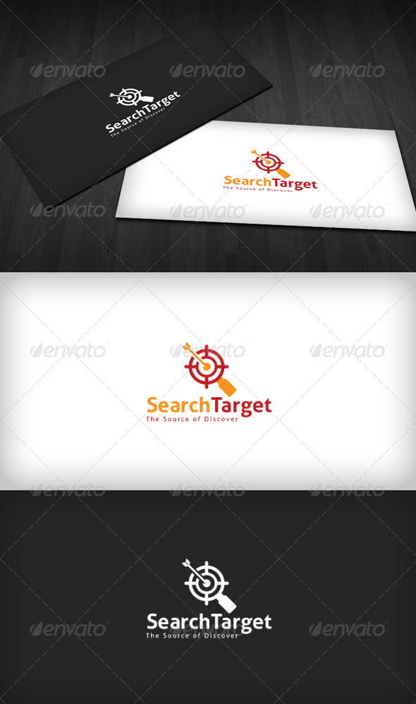 Search Target Logo - Vector Abstract