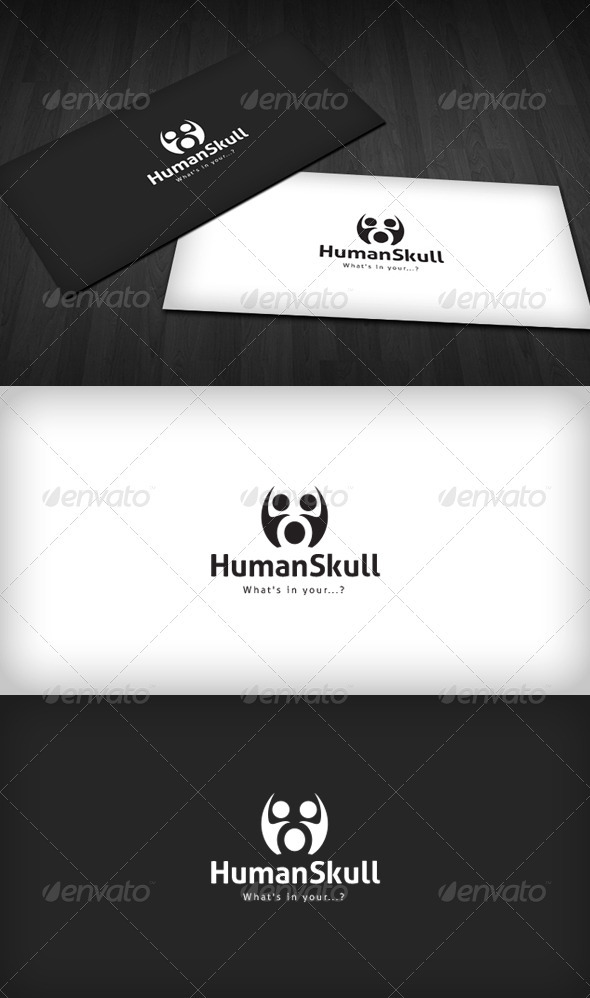 Human Skull Logo - Humans Logo Templates