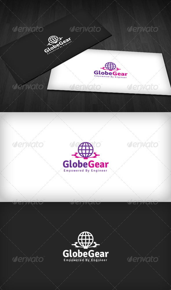 Globe Gear Logo - Vector Abstract
