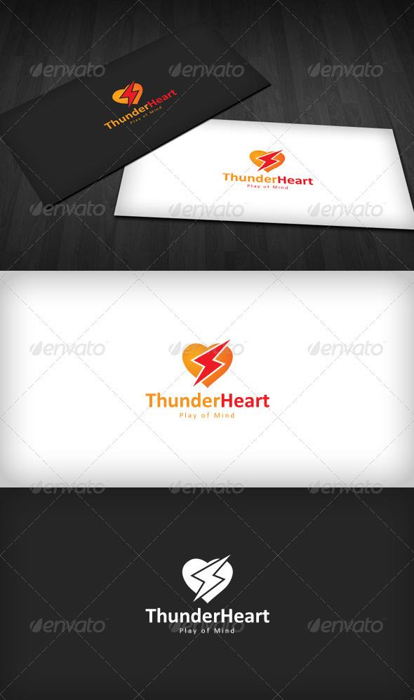 Thunder Heart Logo - Symbols Logo Templates