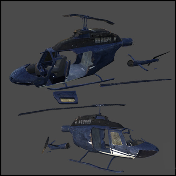 Downed helicopter - 3DOcean Item for Sale