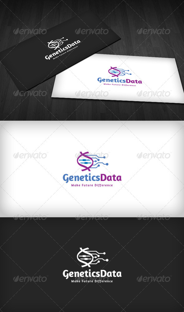 Genetics Data Logo - Vector Abstract