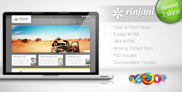 Rinjani – Clean Business Template 4