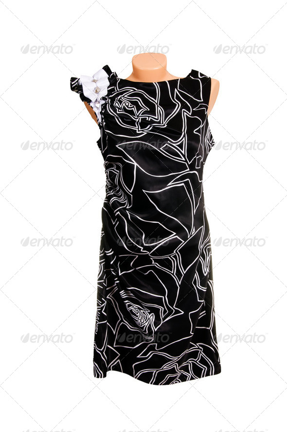Classy dress on a white. - Stock Photo - Images