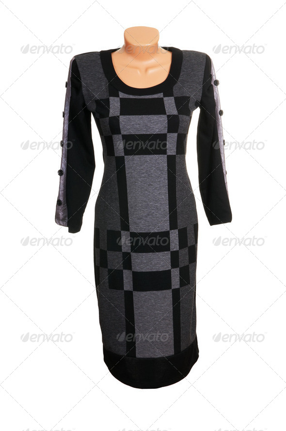 Luxury  modern grey  dress. - Stock Photo - Images