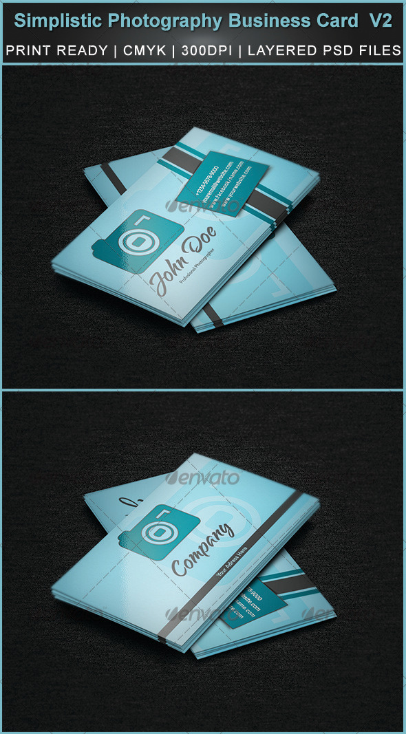Simplistic Photography Business Card  V2 - Industry Specific Business Cards