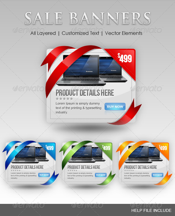 Set of Coupon Banners  - Banners & Ads Web Elements