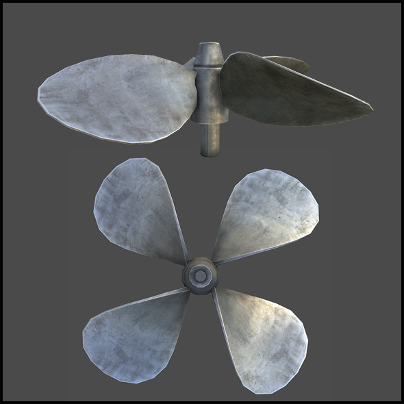 Ship Propeller - 3DOcean Item for Sale