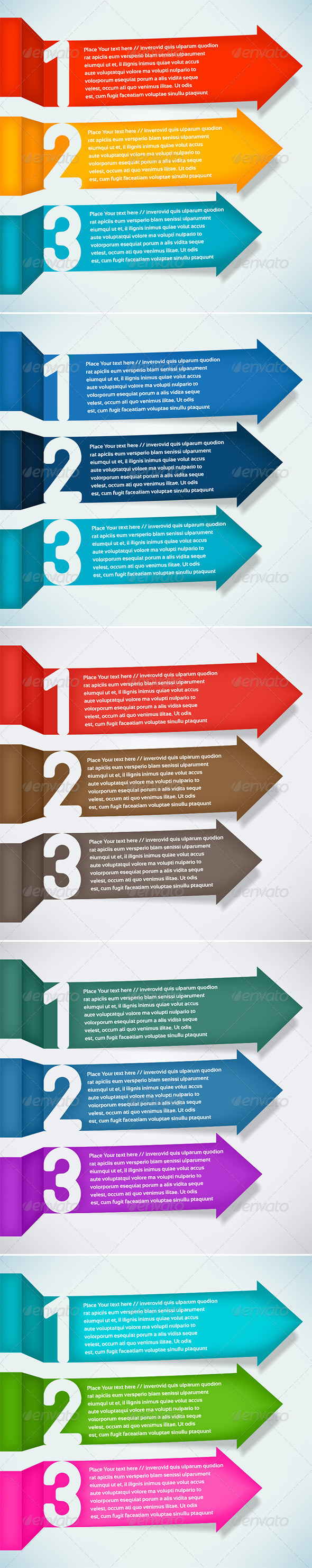 Three Step Arrows - Concepts Business