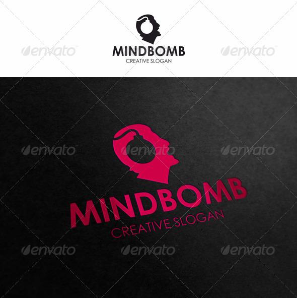Mind Bomb - Brainstorm Logo - Humans Logo Templates