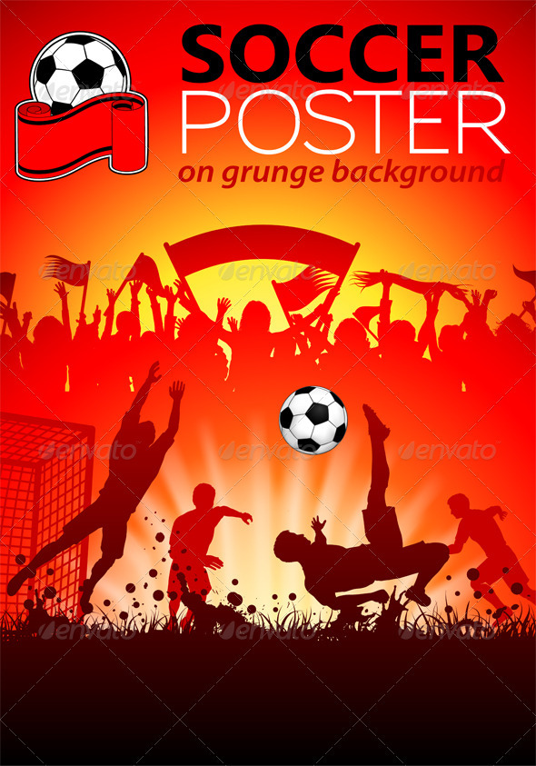 Soccer Poster - Sports/Activity Conceptual