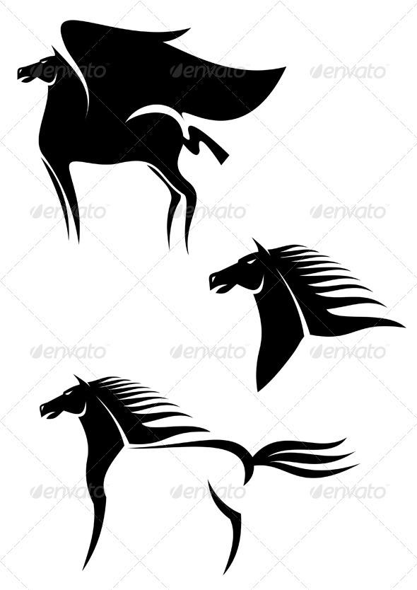 Pegasus horses - Animals Characters