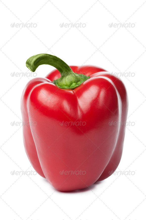 ripe paprika isolated - Stock Photo - Images