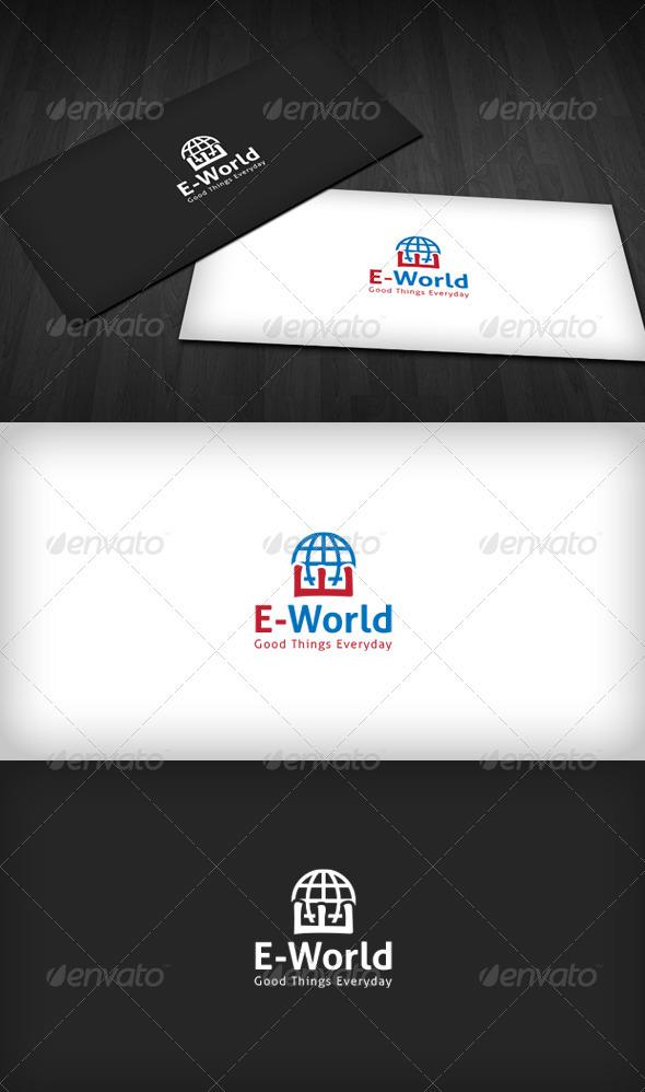 E-World Logo - Symbols Logo Templates