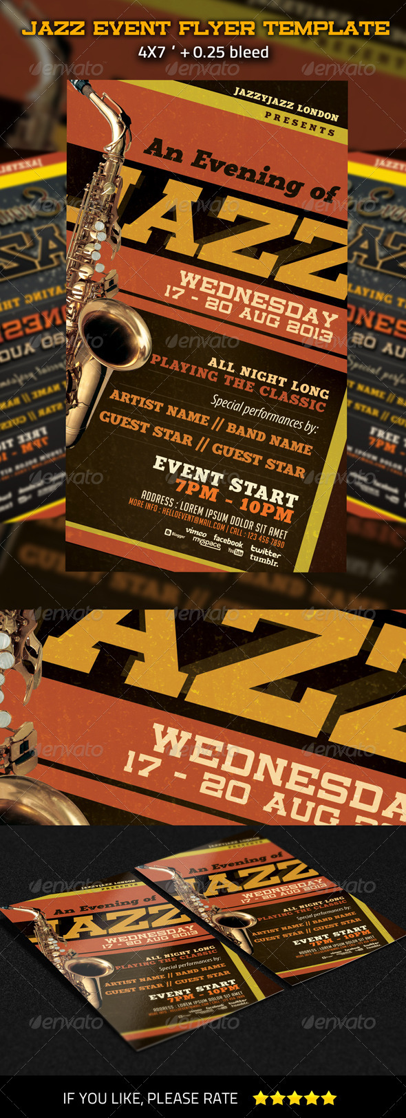 Jazz Event Flyer Template - Concerts Events