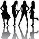 Silhouettes of Girls - GraphicRiver Item for Sale