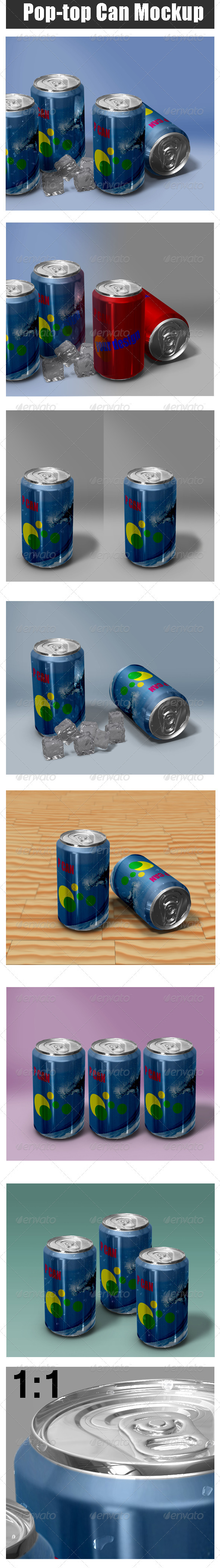 Pop-Top Can Mock-up - Food and Drink Packaging