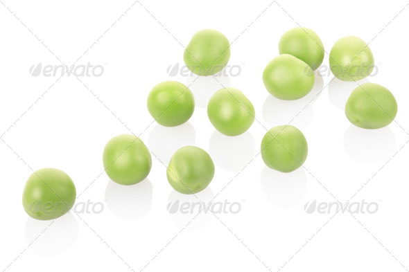 Fresh green peas - Stock Photo - Images