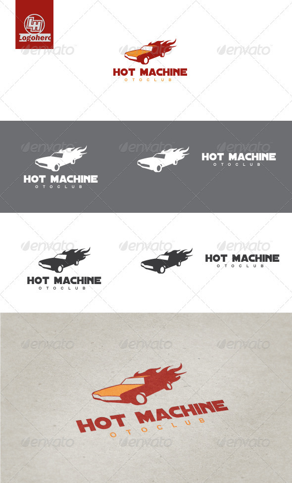 Hot Machine Logo Template - Objects Logo Templates