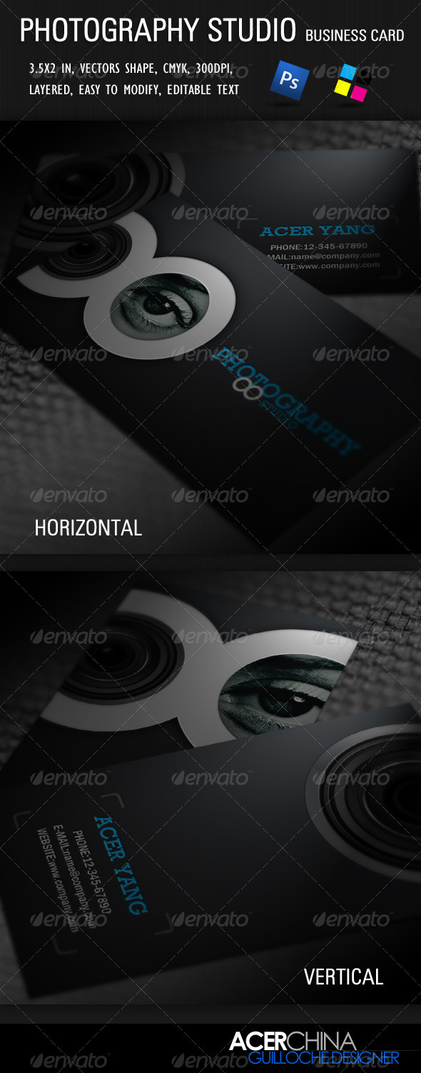 Photography Studio Business Card - Industry Specific Business Cards