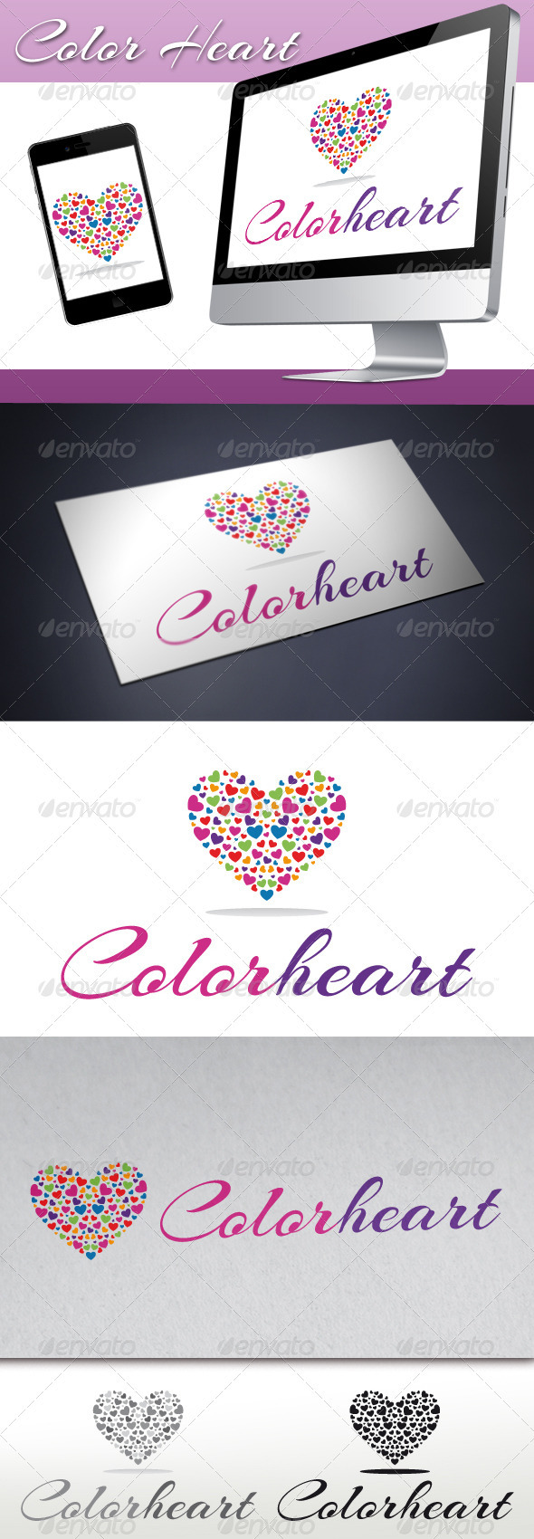 Love Color Heart Logo - Symbols Logo Templates
