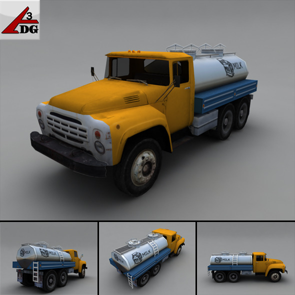 ZIL LowPoly Milk  - 3DOcean Item for Sale