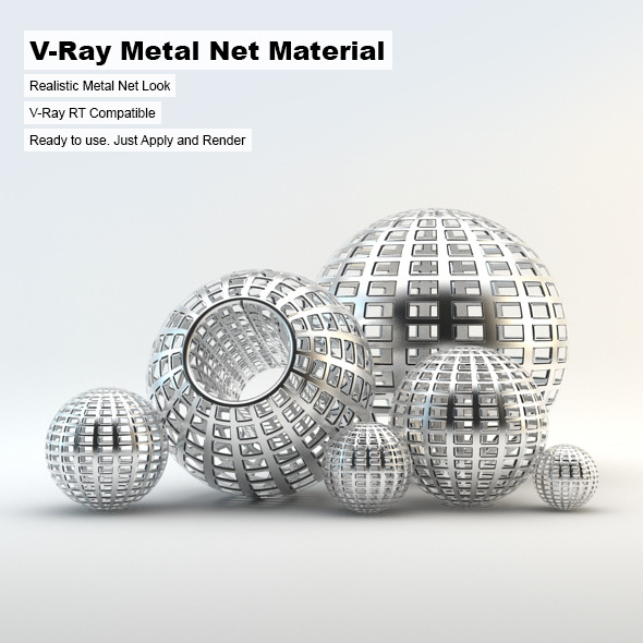 V-Ray Metal Net Material - 3DOcean Item for Sale