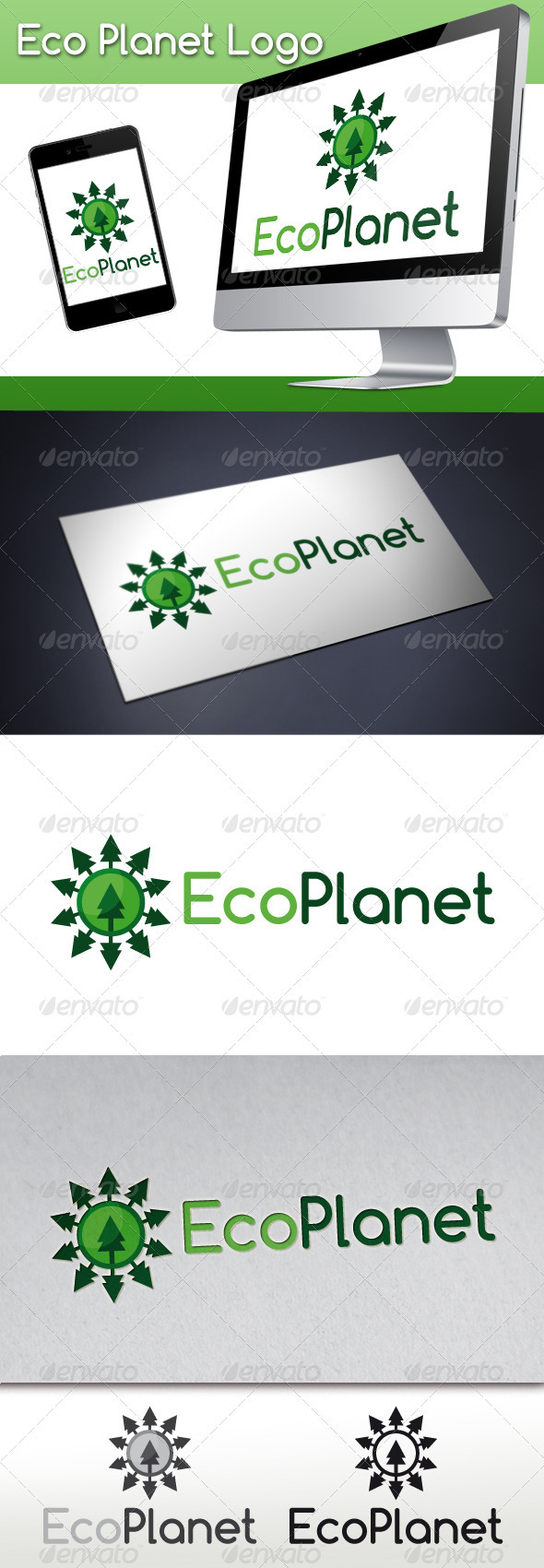 Eco Planet Logo - Nature Logo Templates