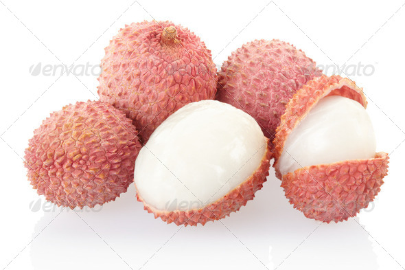 Fresh lychees  - Stock Photo - Images