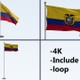 Ecuador Flag Pole Pack 4k-Loop - VideoHive Item for Sale