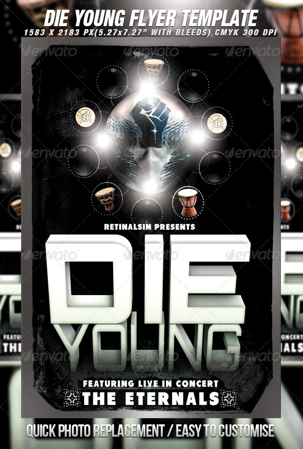 Die Young Poster / Flyer Template - Clubs & Parties Events