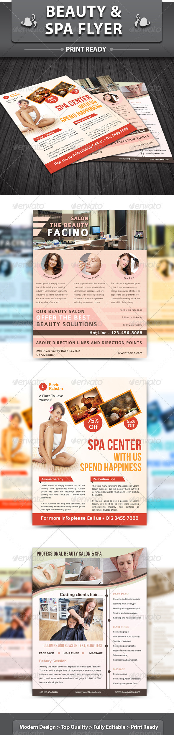 Spa & Beauty Saloon Flyer | Bundle 1 - Corporate Flyers