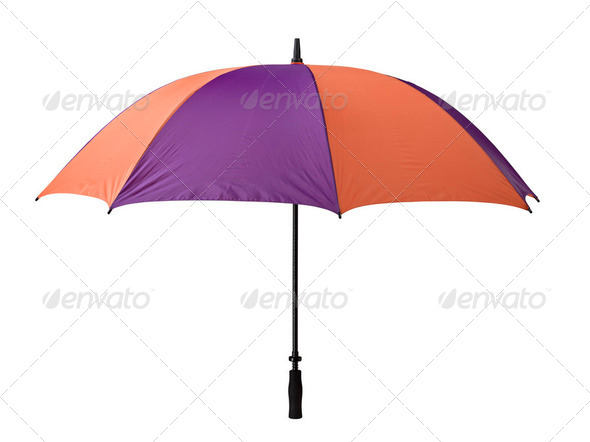 Umbrella isolated over white. - Stock Photo - Images