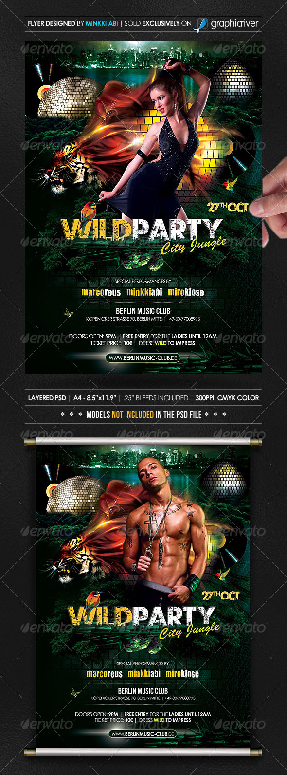 Wild Party Poster/Flyer - Events Flyers